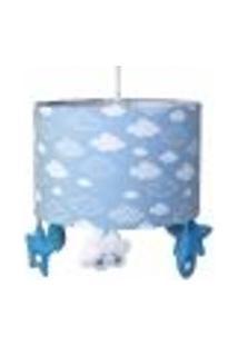 Lustre Tubular Chuva De Amor Azul Quarto Bebê Infantil Menino