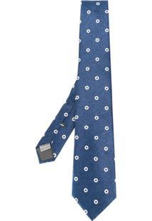 Canali Gravata Com Padronagem - Azul