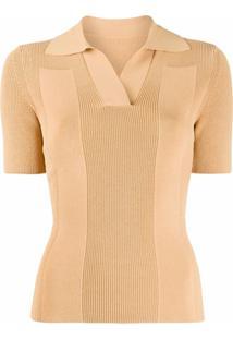 Jacquemus Camisa Polo De Tricô - Amarelo