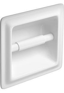Papeleira De Embutir Branca Com Rolete Plástico 17,5X18Cm A480 - Deca - Deca