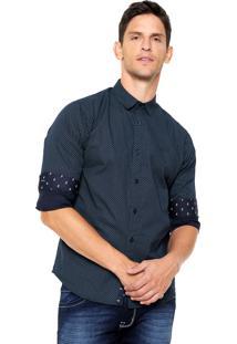 Camisa Colcci Estampada Azul