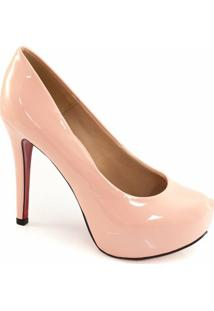 Scarpin Envernizado Sapato Show - Feminino-Rosa