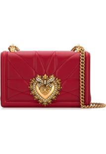 Dolce & Gabbana Bolsa Tiracolo Devotion De Couro - Vermelho