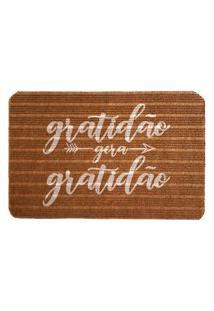 Capacho Carpet Gratidáo Gera Gratidáo Marrom Único Love Decor