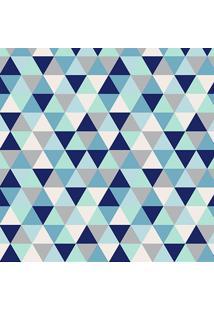 Tapete Mosaico Triangulos Azul Casa Dona Antiderrapante 140 X 200 Cm 100% Marca Própria