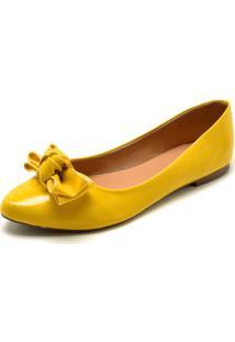Sapatilha Fiveblu Laço Amarela