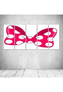 Quadro Decorativo - Pink Loop - Composto De 5 Quadros