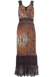 Vestido Plissado Gianna - Animal Print