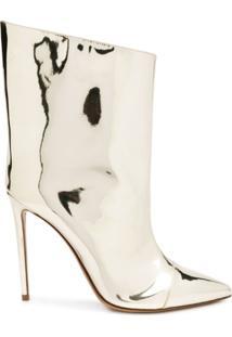 Alexandre Vauthier Alex Mirror Ankle Boots - Dourado