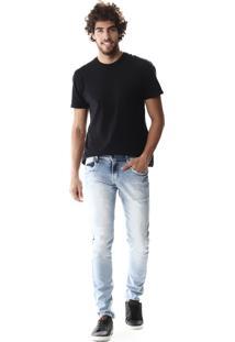 Calça Jeans Sawary Skinny Azul Claro