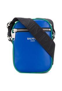 Balmain Bolsa Transversal Color Block - Azul