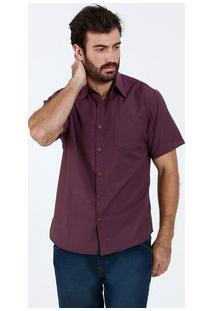 Camisa Masculina Manga Curta Bolso Marisa