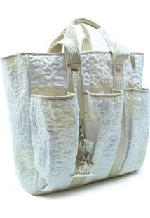 Bolsa Kimberly Begonia Em Patchwork Original - Branco - Feminino - Dafiti
