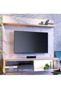 Painel Para Tv Até 60 Polegadas Guaruja 1 Porta Calacatta/Carvalho Bianco - Colibri Móveis