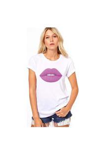 Camiseta Coolest Batom Roxo Branco