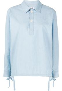 A.P.C. Drawstring Pullover Shirt - Azul