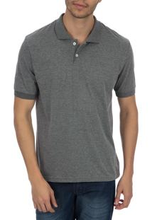 Camisa Polo Colombo Cinza Lisa