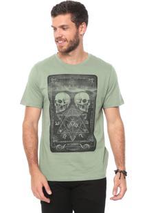 Camiseta Cavalera Caveira Verde