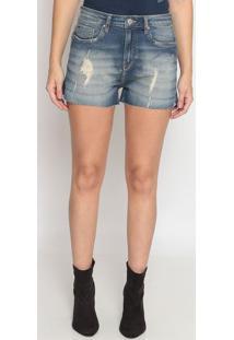 Short Jeans Estonado Com PuãDos - Azulcalvin Klein