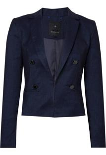 Blazer Botoes Denim (Azul Medio / Blue, 36)