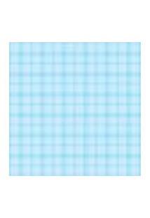 Papel De Parede Azul Xadrez Adesivo 2,70X0,57M