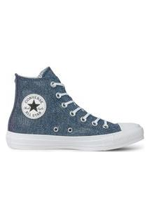 Tênis Converse Chuck Taylor All Star Hi Azul/Pink Fluor/Cinza Metalizado Ct12390002.33