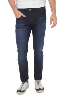 Calça Jeans Forum Slim Estonada Azul