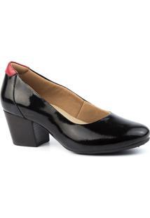 Scarpin Feminino 278 Em Couro Doctor Shoes - Feminino-Preto