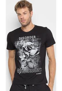 Camiseta Sommer Estampa Disorder Masculina - Masculino-Preto