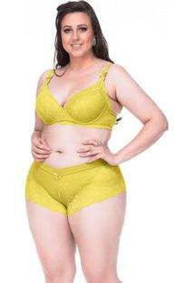 Conjunto Sempre Sensual Lingerie Beauté - Feminino-Amarelo