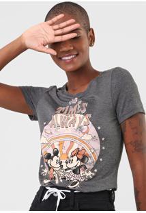 Blusa Cativa Disney Mickey E Minnie Cinza - Kanui