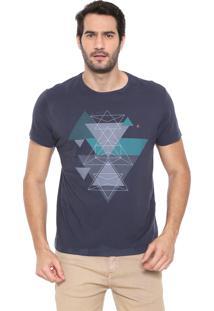 Camiseta Aramis Triângulos Azul