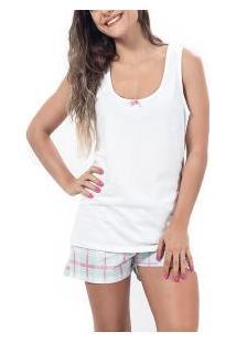 Short Doll Regata Lacinho Mundo Do Sono (15008057) 100% Algodão