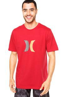 Camiseta Hurley Icon Boardshorts Vermelho