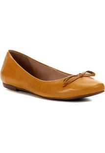 Sapatilha Couro Shoestock Basic Color Feminina - Feminino-Amarelo