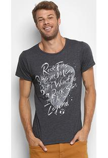 Camiseta Coca-Cola Musical Palheta Masculina - Masculino-Preto