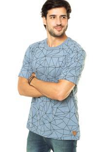 Camiseta West Coast Geométrica Azul