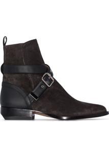 Chloé Ankle Boot Com Fivela 'Rylee' - Preto