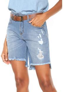 Bermuda Jeans Forum Luna Com Cinto Azul
