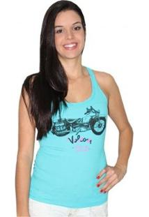 Regata Volcom Free Ride Feminina - Feminino-Azul