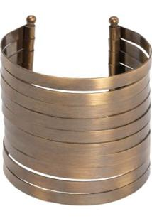 Bracelete Multi Tiras Metal