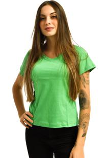 Camiseta Rich Young Gola V Básica Lisa Malha Verde