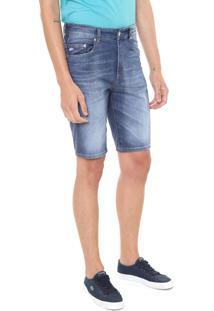 Bermuda Jeans Lacoste Reta Azul