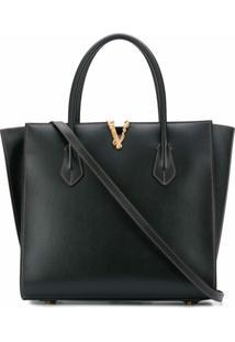 Versace Bolsa Bucket Virtus Média - Preto
