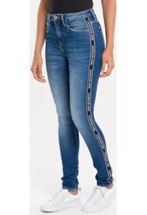 Calça Jeans Five Pockets High R Skinny - Marinho - 34