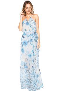 020cb6f519 ... Vestido Colcci Longo Floral Azul