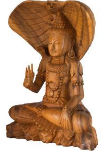 Escultura Shiva Em Madeira 40Cm