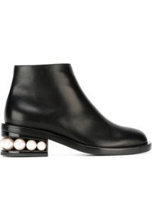 Nicholas Kirkwood Ankle Boot De Couro 'Casati Pearl' - Preto
