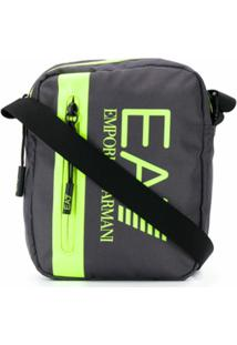 Ea7 Emporio Armani Bolsa Carteiro Com Estampa De Logo - Cinza