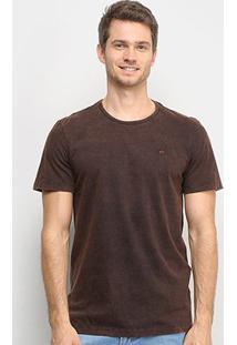 Camiseta All Free Estonada Masculina - Masculino-Marrom Escuro